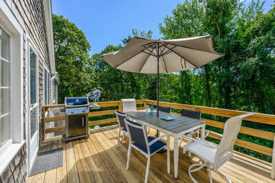 BBQ your favorite meals on the deck at  80 Lienau Dr Chatham Ma - Cape Cod- New England Vacation Rentals