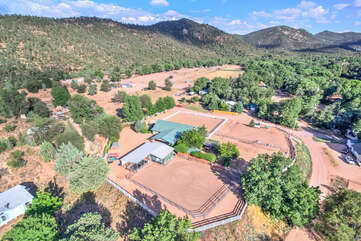 Tonto National Forest adjoins the property and offers beautiful horseback riding, biking and hiking trails (for non-motorized vehicles only).