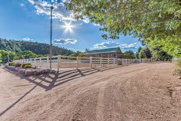 Guesthouse is part of a small private ranch 15 minutes from Payson.
