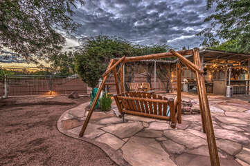 Vast outdoor areas offer shade and sun as well as appealing southwestern ambiance