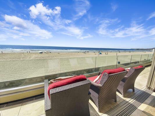 Second Floor Patio with Ocean Views