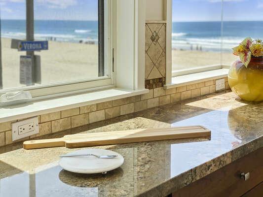 Ocean Views from Entertainers Kitchen - Second Floor