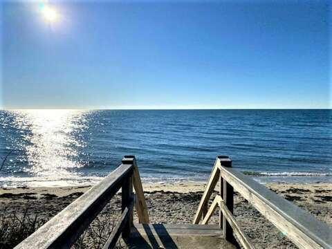 Stairs to Private Beach - 405 Old Wharf Road-Dennisport Cape Cod- New England Vacation Rentals