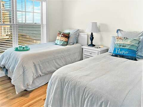 Bedroom #2 with 2 Twin beds - closet is located just across the hall - 405 Old Wharf Road-Dennisport Cape Cod- New England Vacation Rentals
