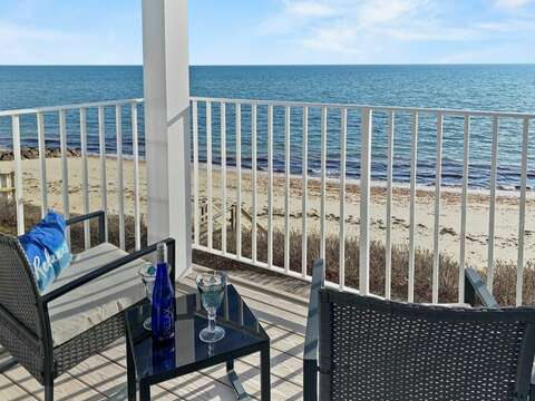 Balcony with beautiful Ocean views - Welcome to Coastal Cove at 405 Old Wharf Road-Dennisport Cape Cod- New England Vacation Rentals