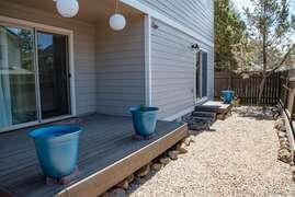 side fenced yard