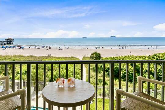 View of the ocean & Cocoa Beach Pier from your private balcony!
