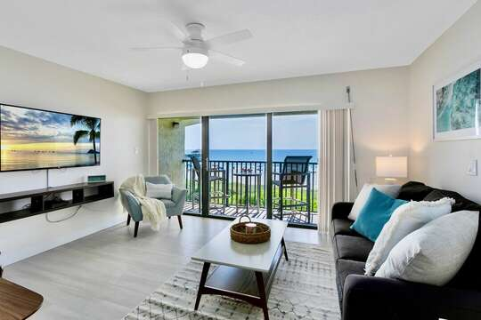 Perfect spot to relax with a view of the ocean and a new 55