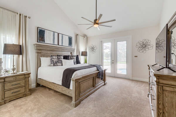 Feel right at home in this master bedroom