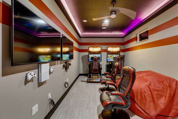 The game room offers entertainment without even leaving your home!