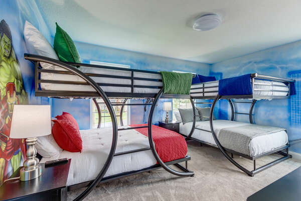 Save the world in this fun kids' bedroom