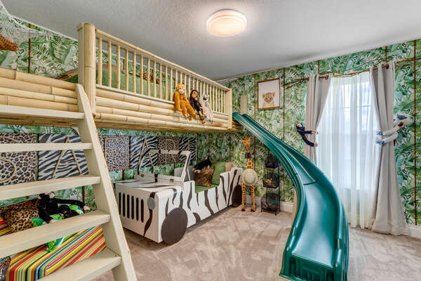 Take on the jungle in this wild kids' bedroom!