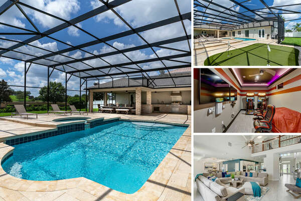 Welcome to Formosa Escape, a luxurious 7 bedroom vacation rental with a games room, private screened-in pool and spillover spa | PHOTOS TAKEN: August 2020