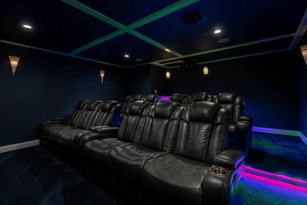 Sit back and relax in one of the 6 theater-style chairs