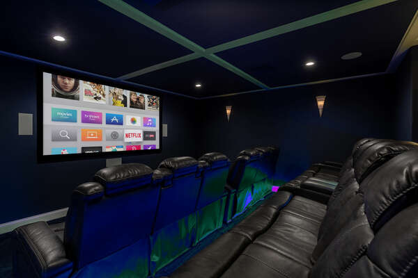 The at-home movie theater is perfect for nights in and your favorite flick