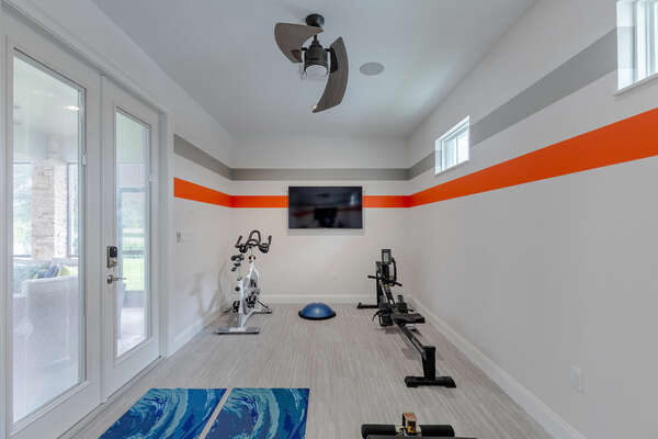Keep up with your fitness routine in the home gym!