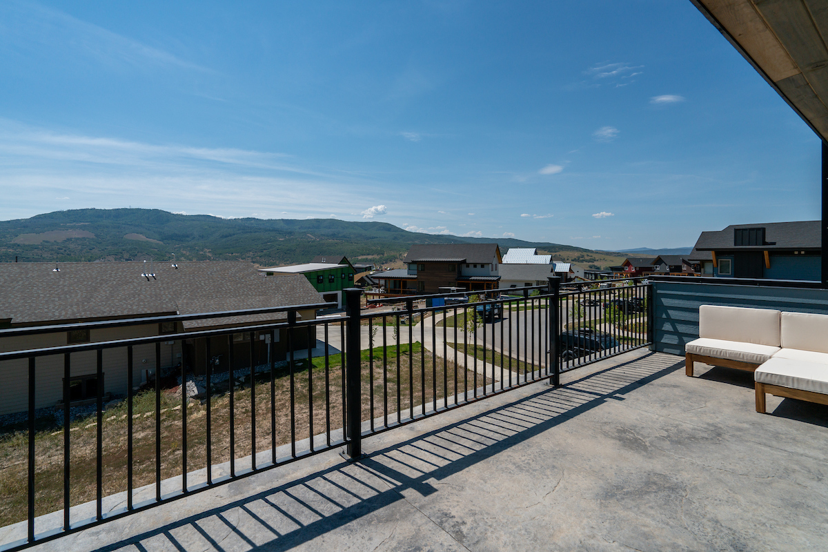 Private deck off the master of this vacation homes in Steamboat Springs with views to the east and south!