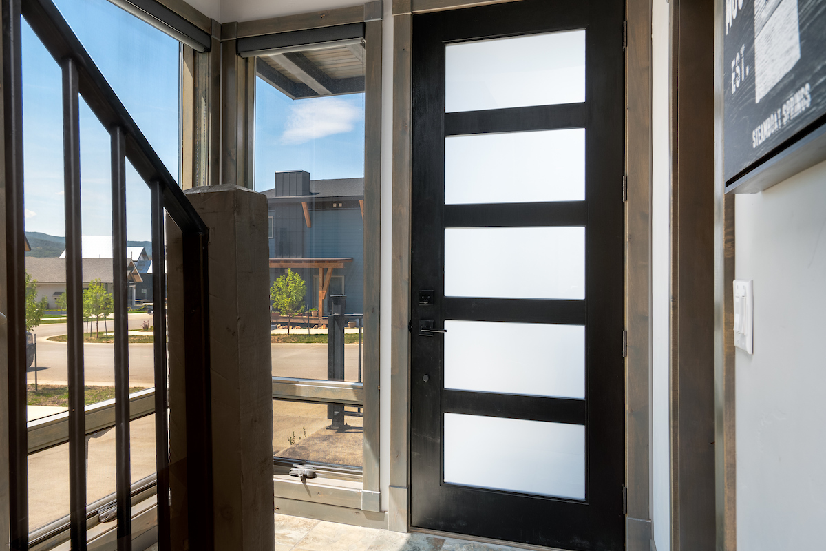 Front door of this amazing home in Steamboat Springs!
