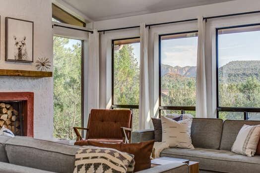 Large Windows Bring in the Stunning Red Rock Views and Plenty of Natural Light