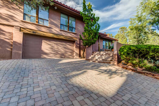 2-Car Garage and Lovely Paver Driveway