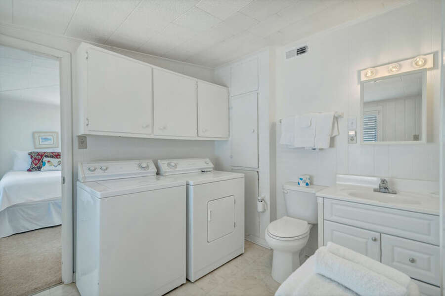 Full Size Washer and Dryer and Guest Bathroom