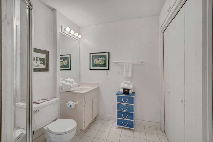 Full Guest Bathroom with Walk In Shower