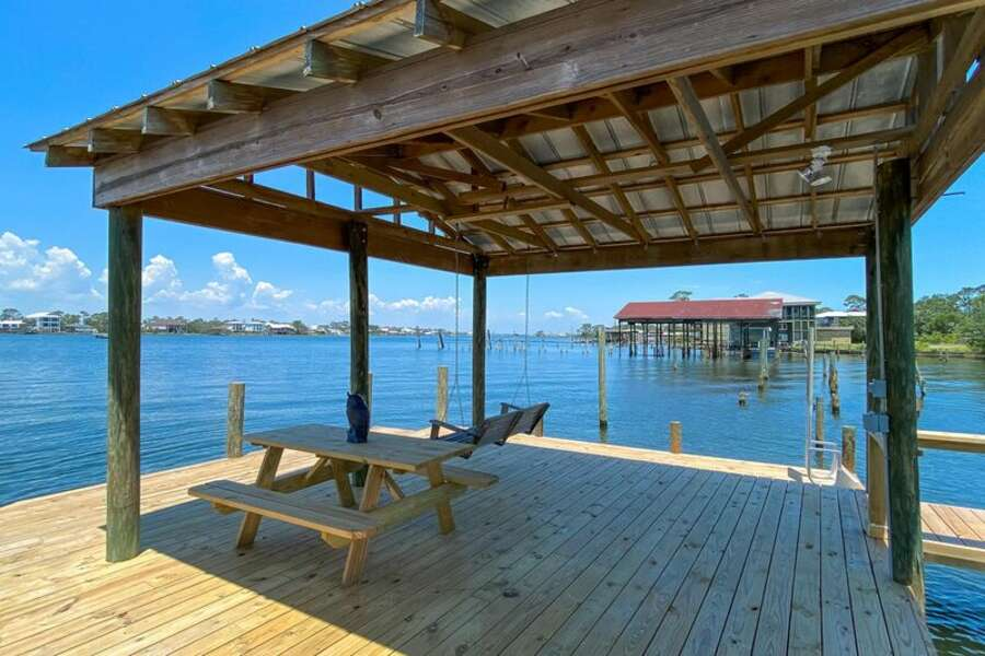 Picnic Table on Private Dock