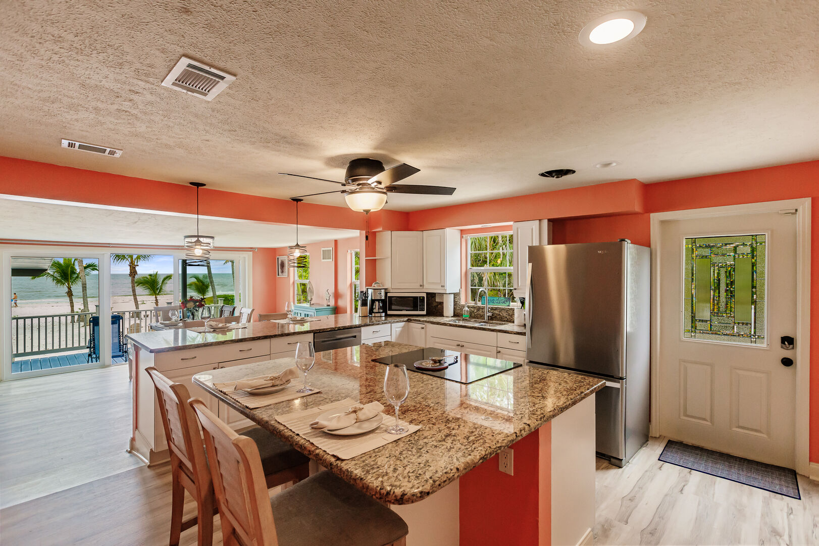 Beautiful Kitchen and Dining Area in Beach Paradise