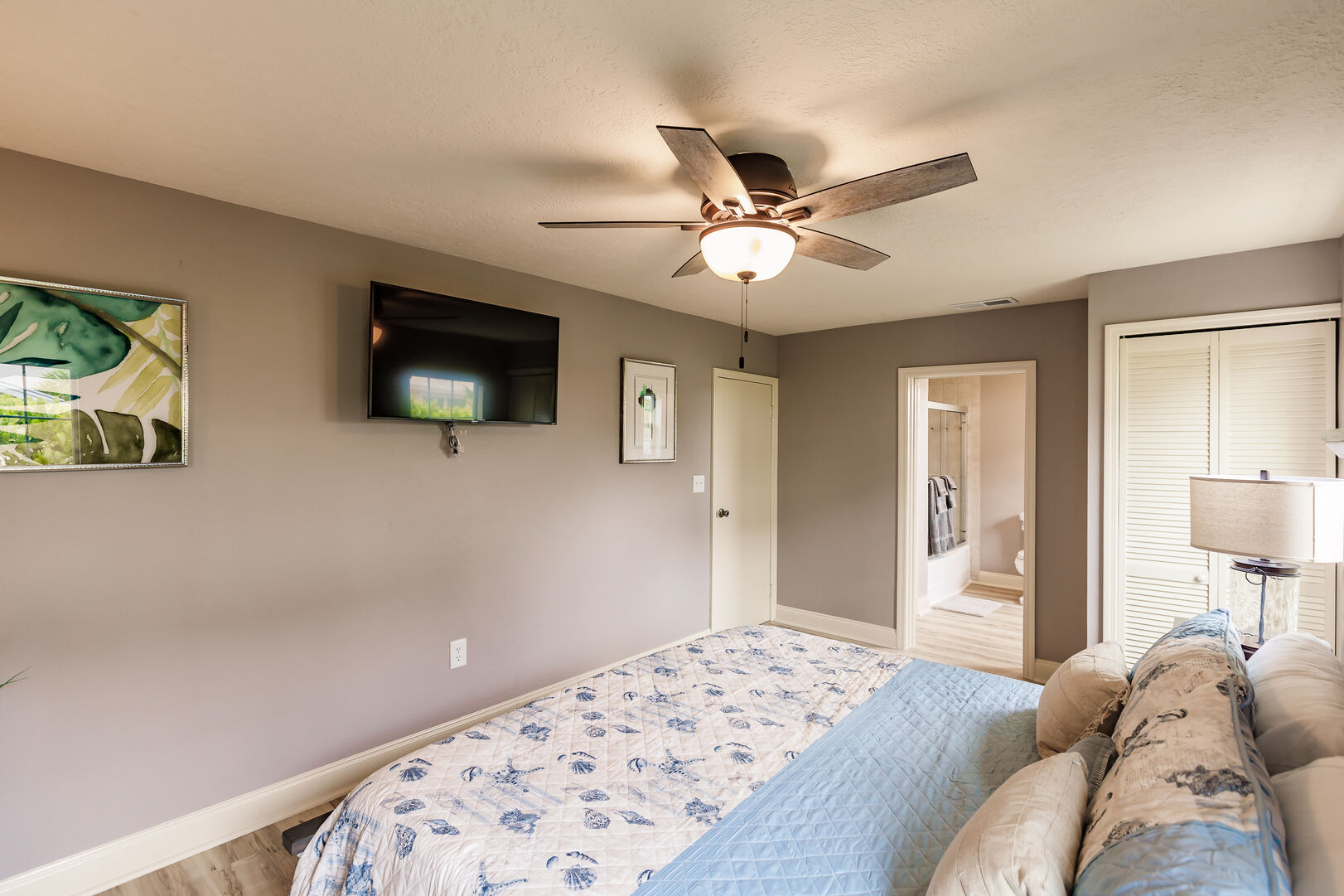 Bedroom and Flat Screen TV in Beach Paradise