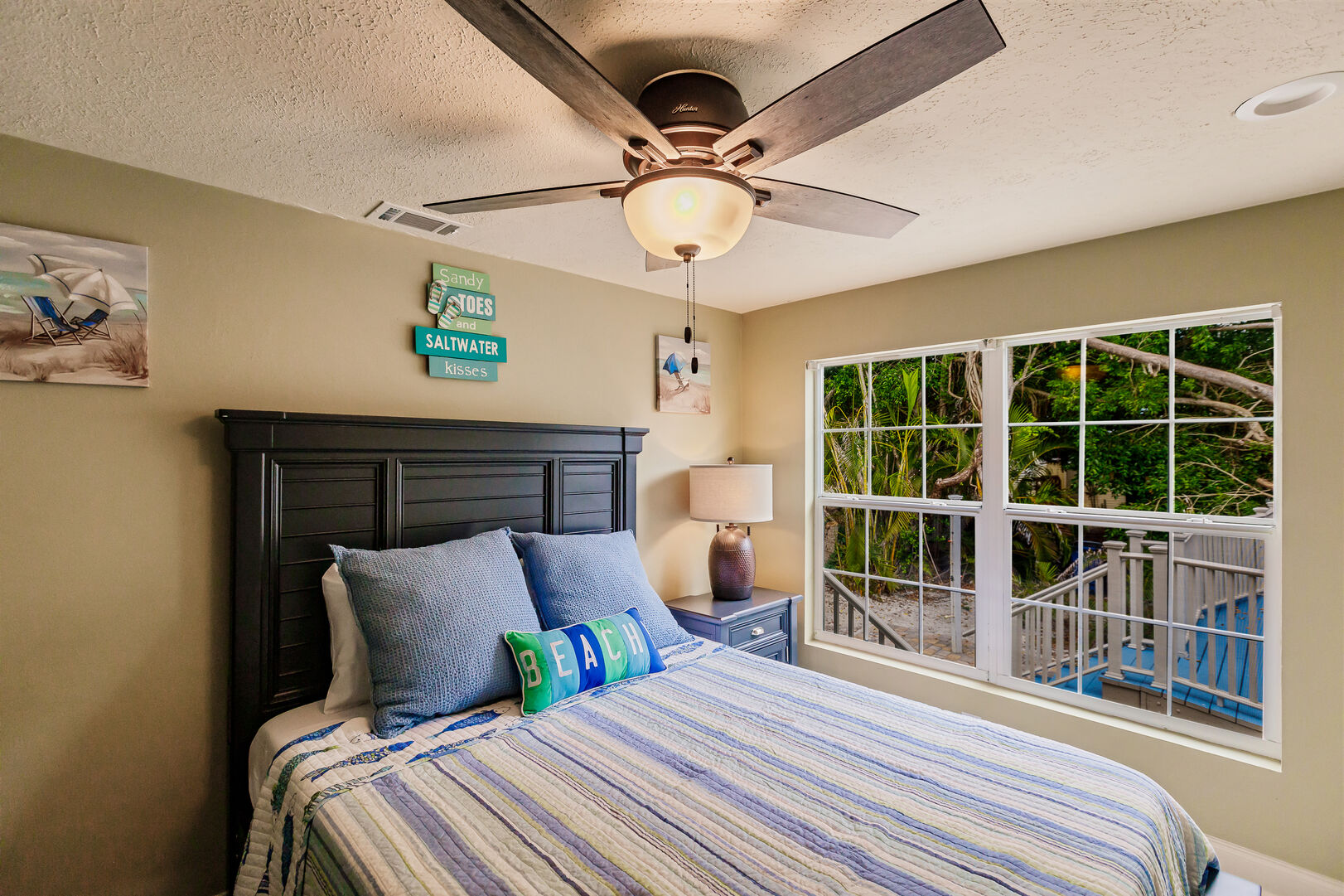 Bedroom with Nice View in Beach Paradise Private Beach House Rental in Florida