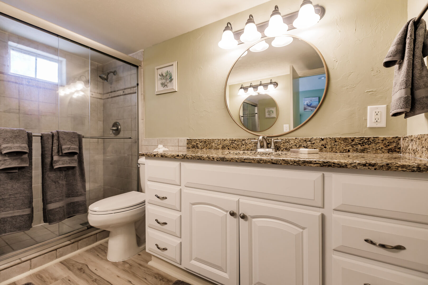 Bathroom and Vanity in Beach Paradise Private Beach House Rental in Florida