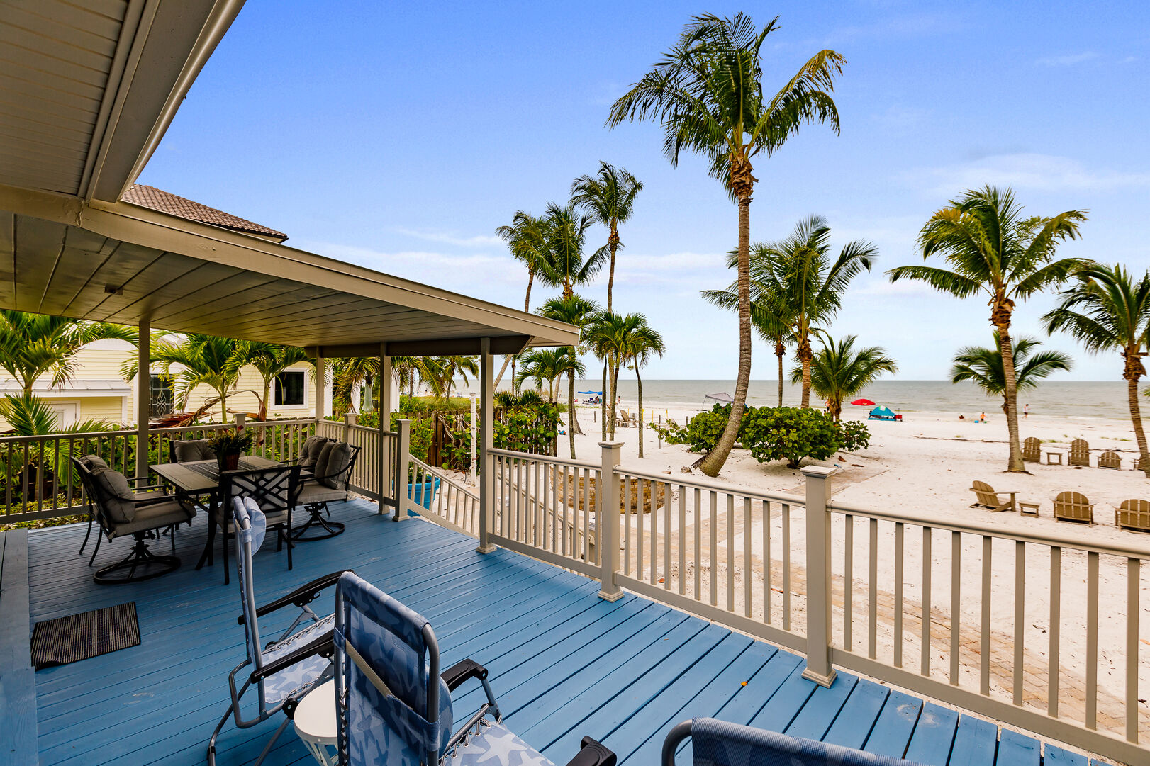 Private Beach House Rental in Florida Back Deck and Beach View