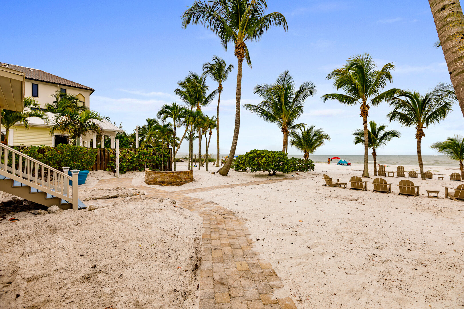 Walkway and Outdoor Seating Private Beach House Rental in Florida