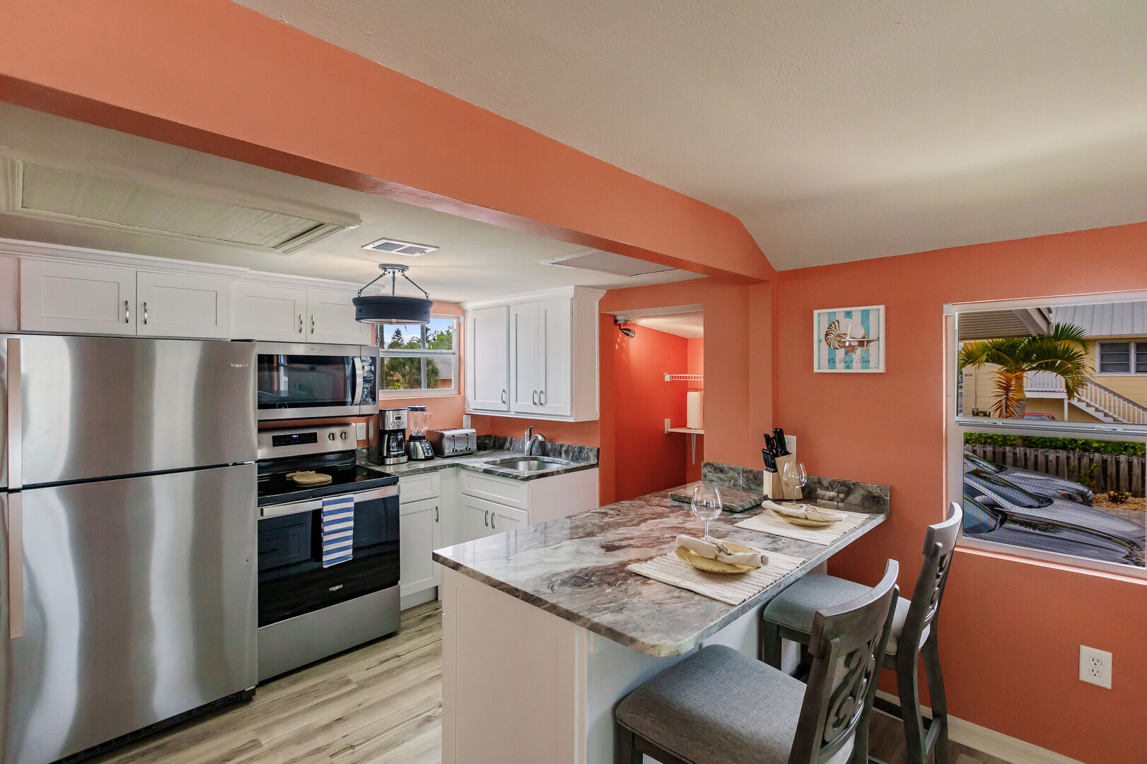 Kitchen and Countertop Seats Lovely Fort Myers Beach House Vacation Rental