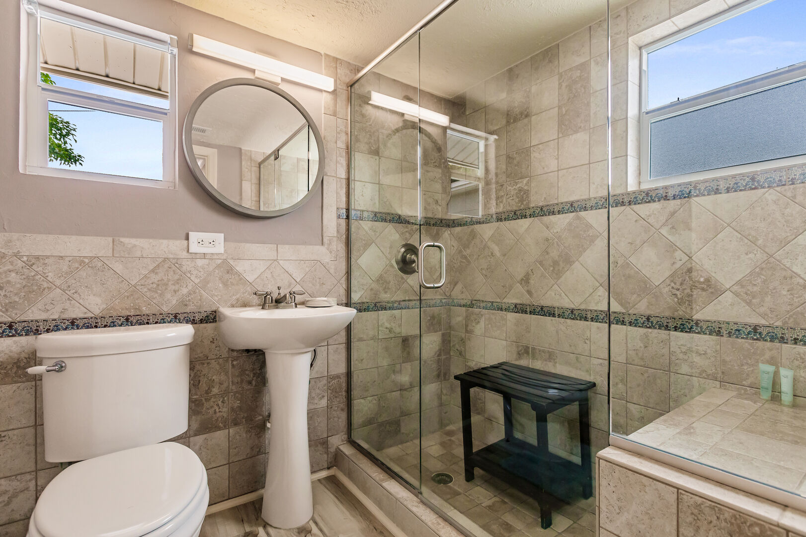 Private Bathroom and Modern Shower Stone Crab Cottage