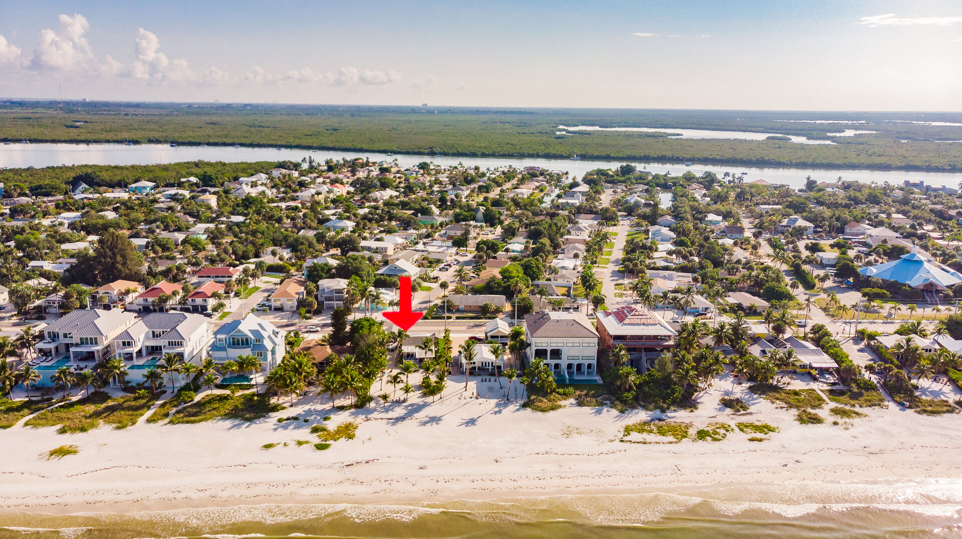 Private Beach House Rental in Florida Aerial View From Ocean
