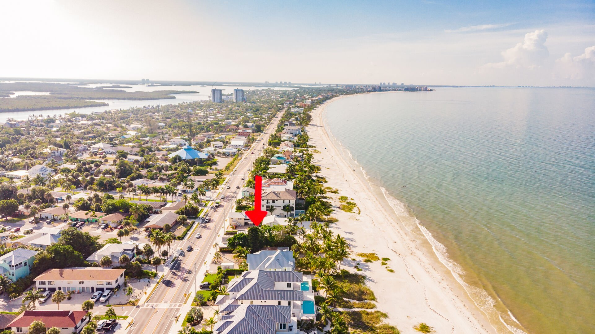 Aerial View of Surrounding Area Private Beach House Rental in Florida