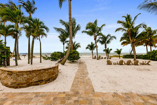 View of the Gulf from Beach Paradise Private Beach House Rental in Florida
