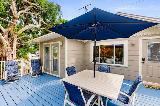 Stone Crab Cottage Beautiful Blue Deck Seating
