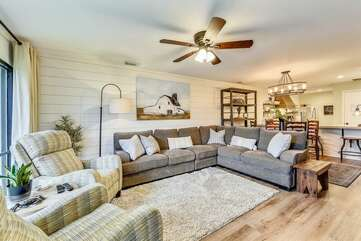 Living Room with large sectional