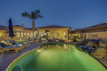 There's nowhere else you'd rather be then hanging pool side at this perfectly amenity-packed home.