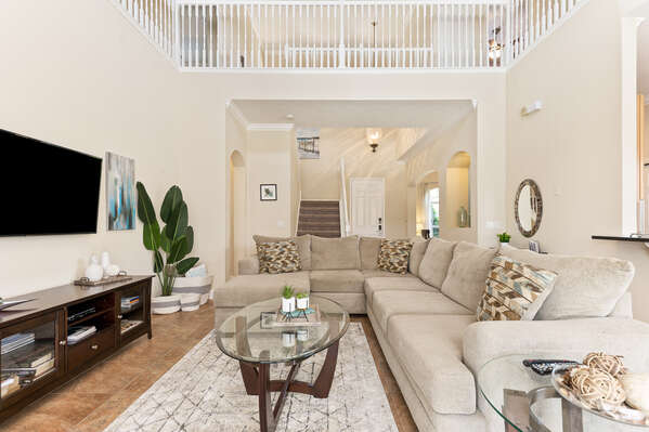 Gather the family around in the spacious living room.