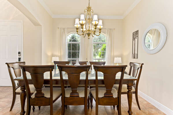Enjoy dinner with the entire family at this 8-seated dining room.
