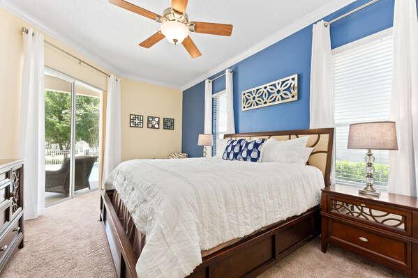 Enjoy the pristine comfort of the master bedroom.