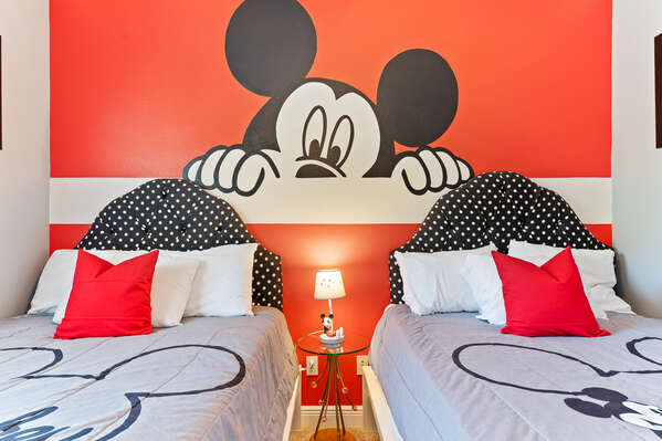 The little ones can get the best rest before a day at the parks in these cozy beds.