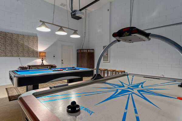 Challenge your family to a game of pool or air hockey in the game room.
