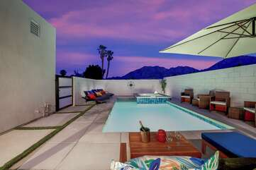 Enjoy the stunning views of the Santa Rosa Mountains. Take an evening swim while watching the sun set!