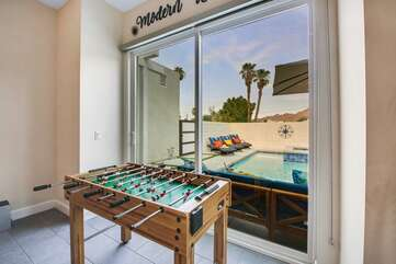GOAL! Need to show off your skills? Then step right up and play a little game of foosball.