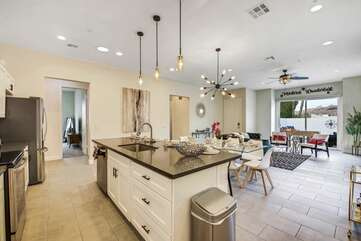 The kitchen island has so much room to prepare your favorite meal, enjoy the top of the line appliances.