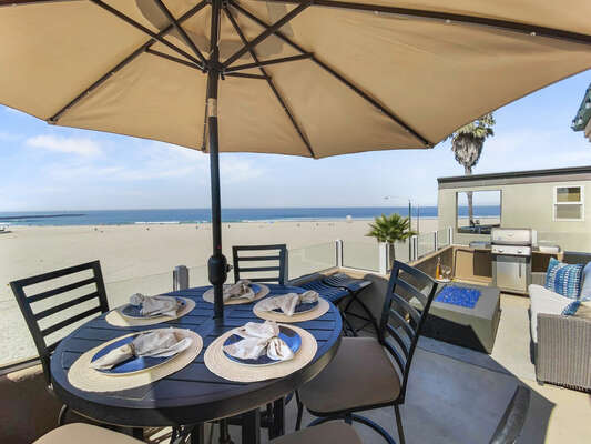 Oceanfront Deck with Outdoor Dining - Third Floor